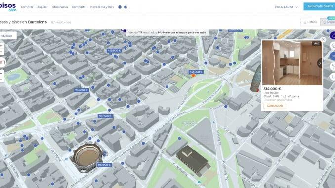 El portal inmobiliario perfecciona su imagen y funcionalidades, permitiendo la búsqueda por mapa para que el usuario pueda comparar precios y mejorar su conocimiento de la zona