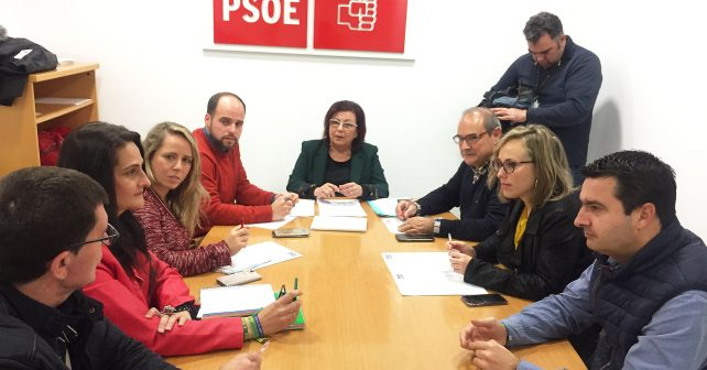 Reunión del PSOE con alcaldes y portavoces de los municipios onubenses afectados