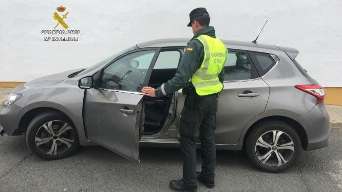 La Guardia Civil ha recuperado un vehículo en San Bartolomé de la Torre sustraído en Lérida