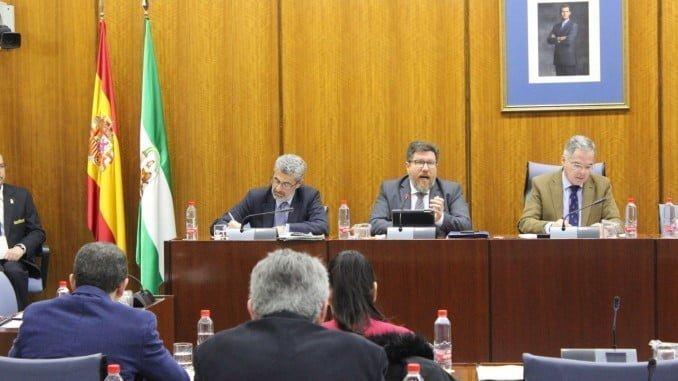 Sánchez Haro durante su comparecencia en comisión parlamentaria