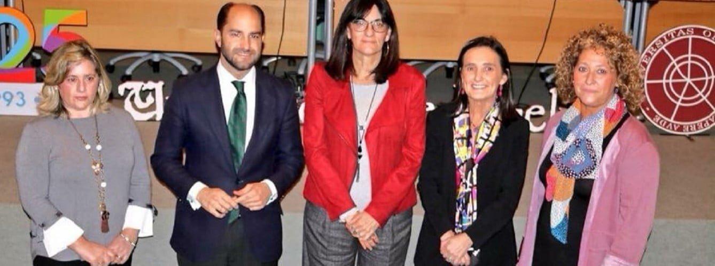 Pilar Marín Mateos, a la derecha en la foto, será la candidata del PP a la Alcaldía de Huelva.