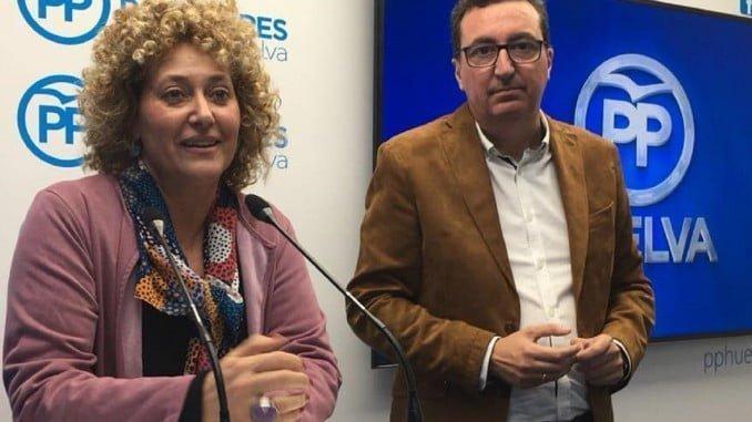 Pilar Marín Mateos fue presentada esta mañana por el presidente provincial del PP como candidata a la Alcaldía de Huelva.