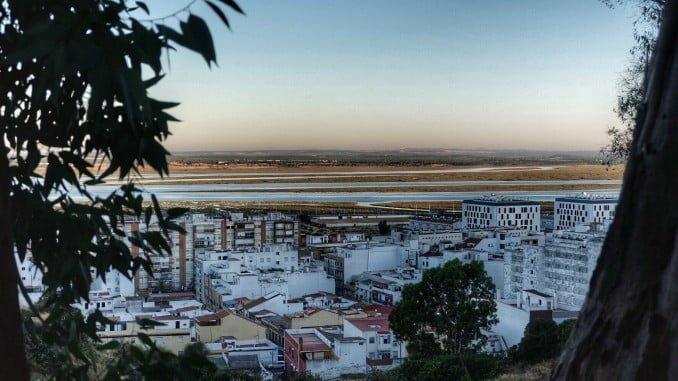 Panorámia de Huelva desde el Conquero
