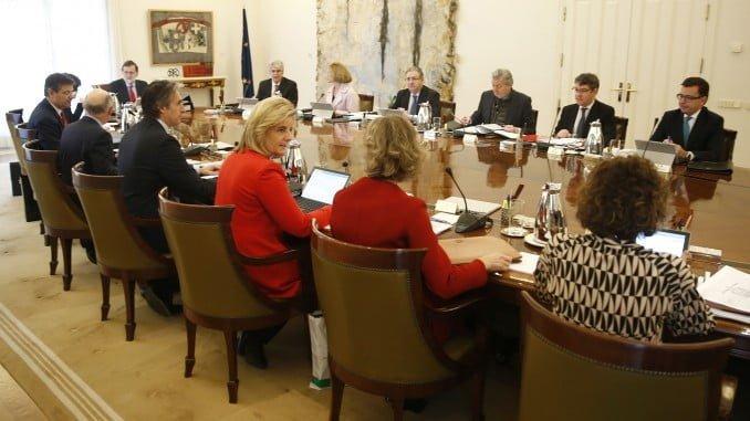 Imagen del Consejo de Ministros donde se ha aprobado el nuevo Plan de Vivienda