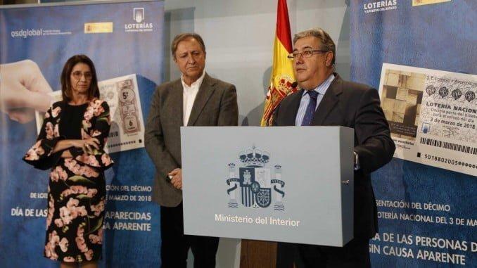 Presentación del nuevo décimo de lotería dedicado a las personas desaparecidas