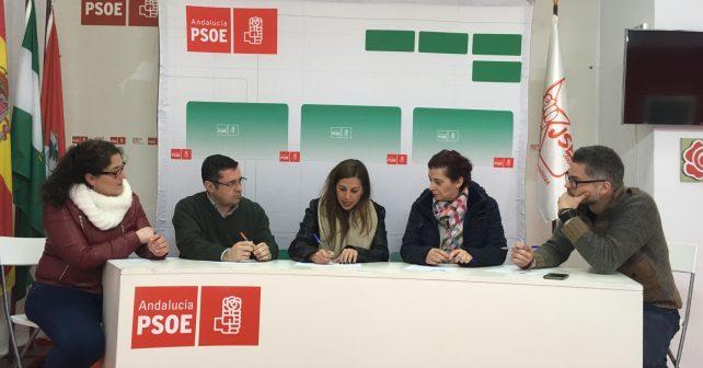 Carmen Castilla y Luis Conde, en la reunión con Bejarano