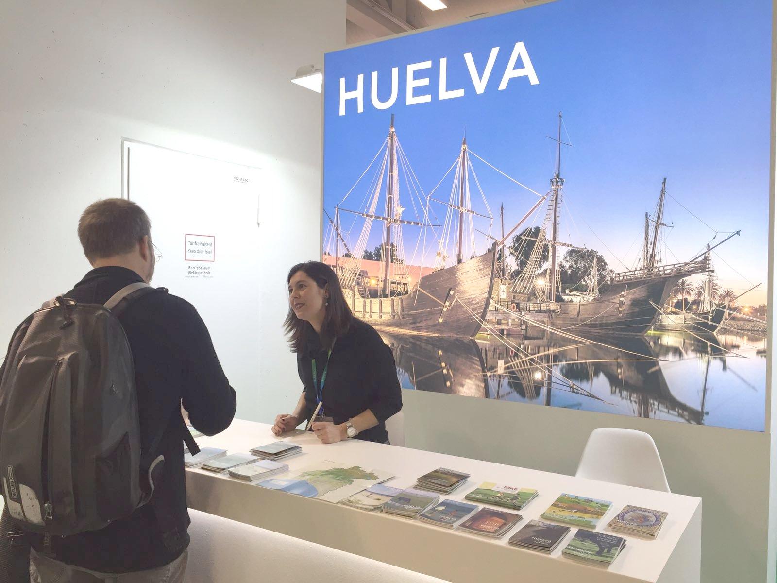 Espacio de Huelva ubicado dentro del stand de Andalucía