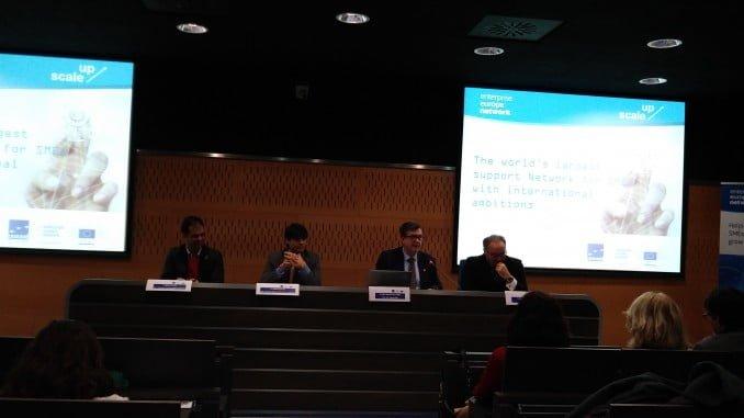 Un  momento de la inauguración con los cuatro representantes de las entidades que componen el consorcio CESEAND