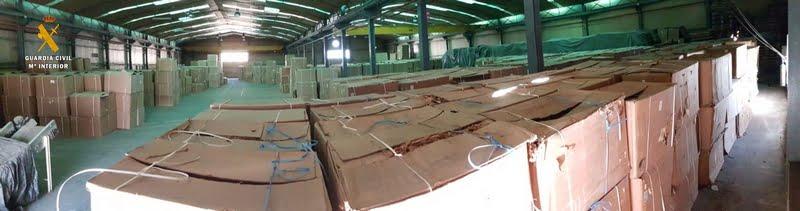 Una de las operaciones más importante a nivel europeo en materia de contrabando de labores del tabaco