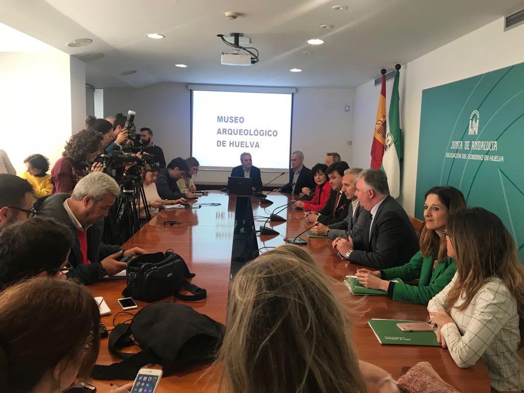 Presentación del Museo Arqueológico de Huelva que se ubicará en el antiguo Banco de España