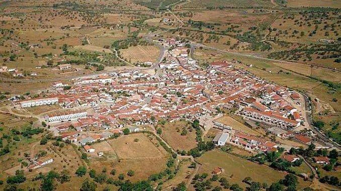 Vista aérea de Cabezas Rubias (Huelva)
