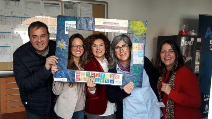 La vicepresidenta de la Diputación y la delegada de Cultura en el encuentro de mujeres