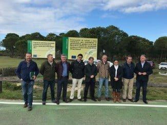 Fiscal ha visitado las obras en fincas públicas del Espacio Natural de Doñana
