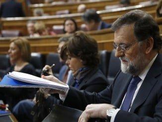 Rajoy, momentos antes de su comparecencia en el Congreso