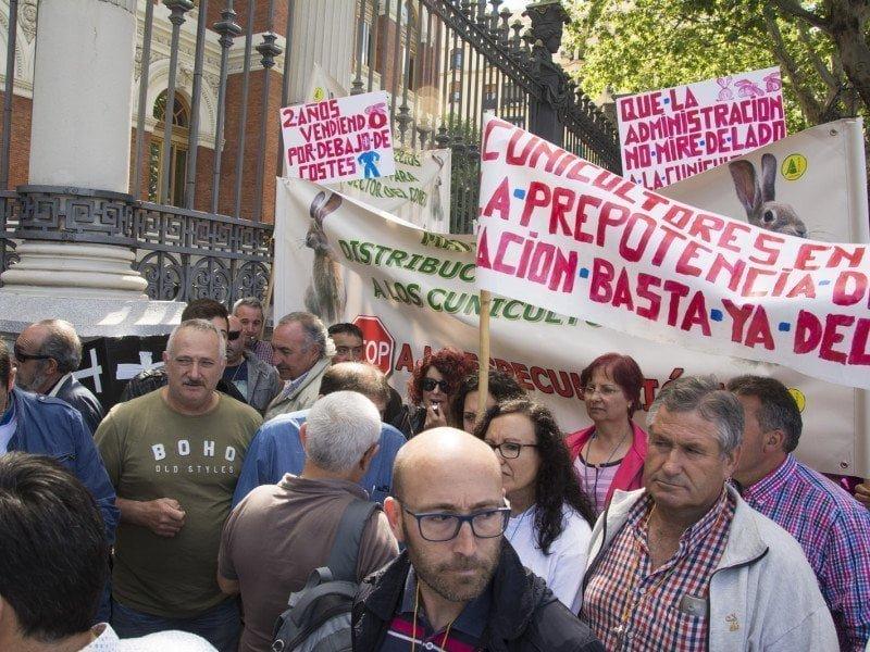 Concentración ante el Ministerio de Agricultura para protestar por la PAC