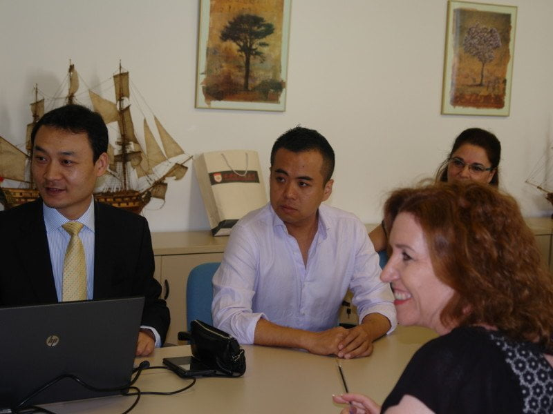 La delegación china de la universidad Xián