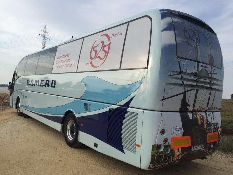 Flamante rotulación del autobús