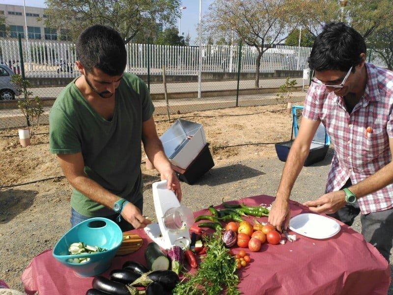 Combinar los conceptos de agricultura ecológica y cocina solar
