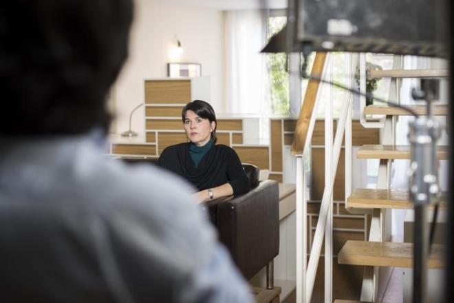 Secuencia que el cineasta onubebse Fernando Arroyo ha grabado para el documental la 'Gran ola' que se estrenará la primavera del 2017 y está centrada en el riesgo de tsunamis en la costa de Huelva.