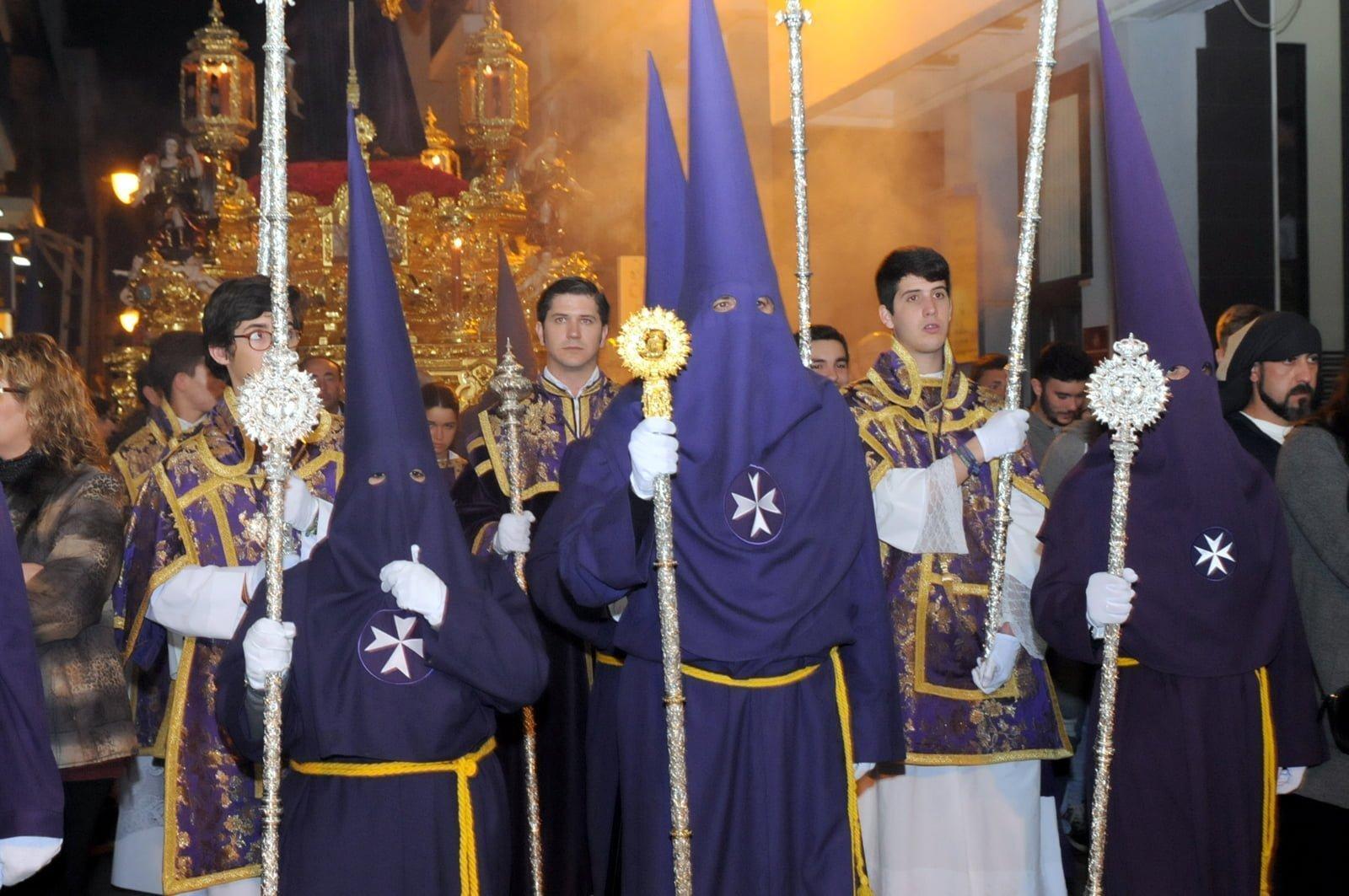 Cortejo de la Hermandad del Nazareno.