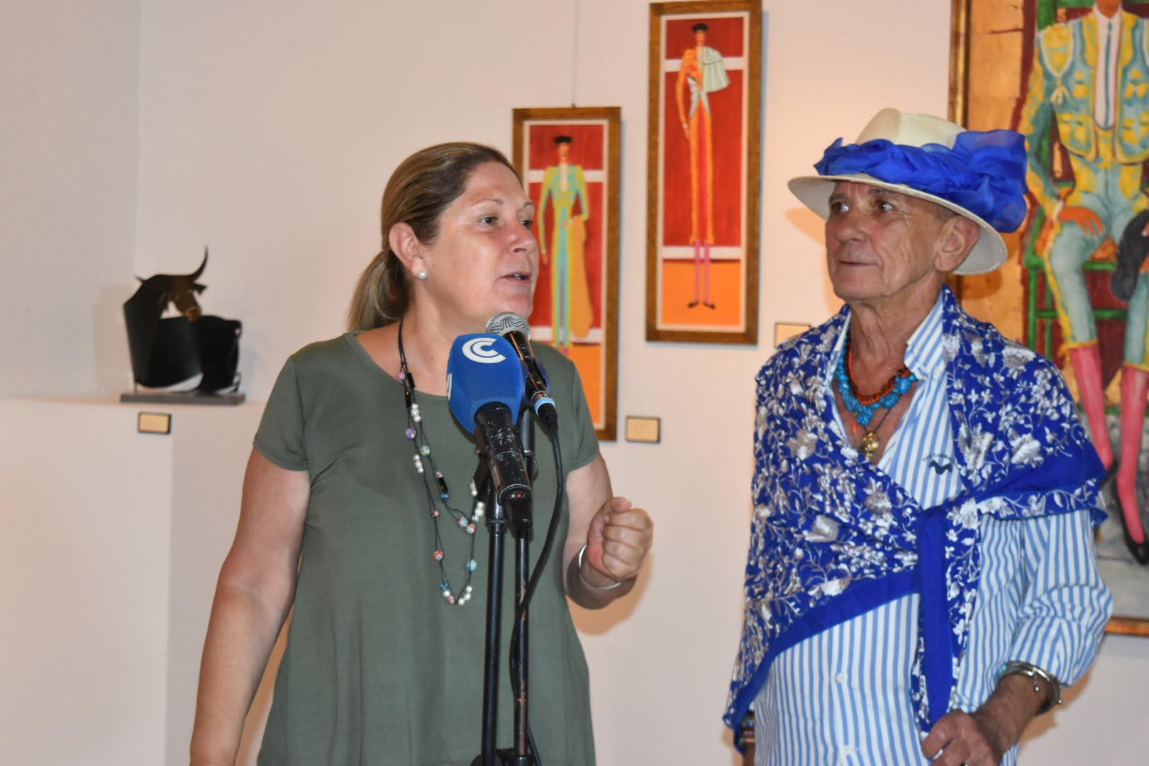 y Pachi Gallardo, autor de la exposición
