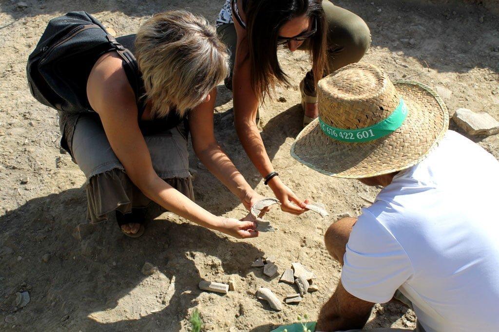 Yacimiento arqueológico encontrado en Bollullos