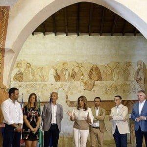 La presidenta de la Junta en la ermita medieval de San Mamés