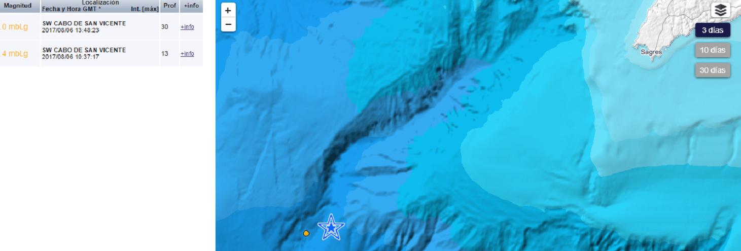 Los dos últimos terremotos se han producido en las profundidades de, mar, en la ladera del volcán inactivo que tiene mayor altura que el Everest.