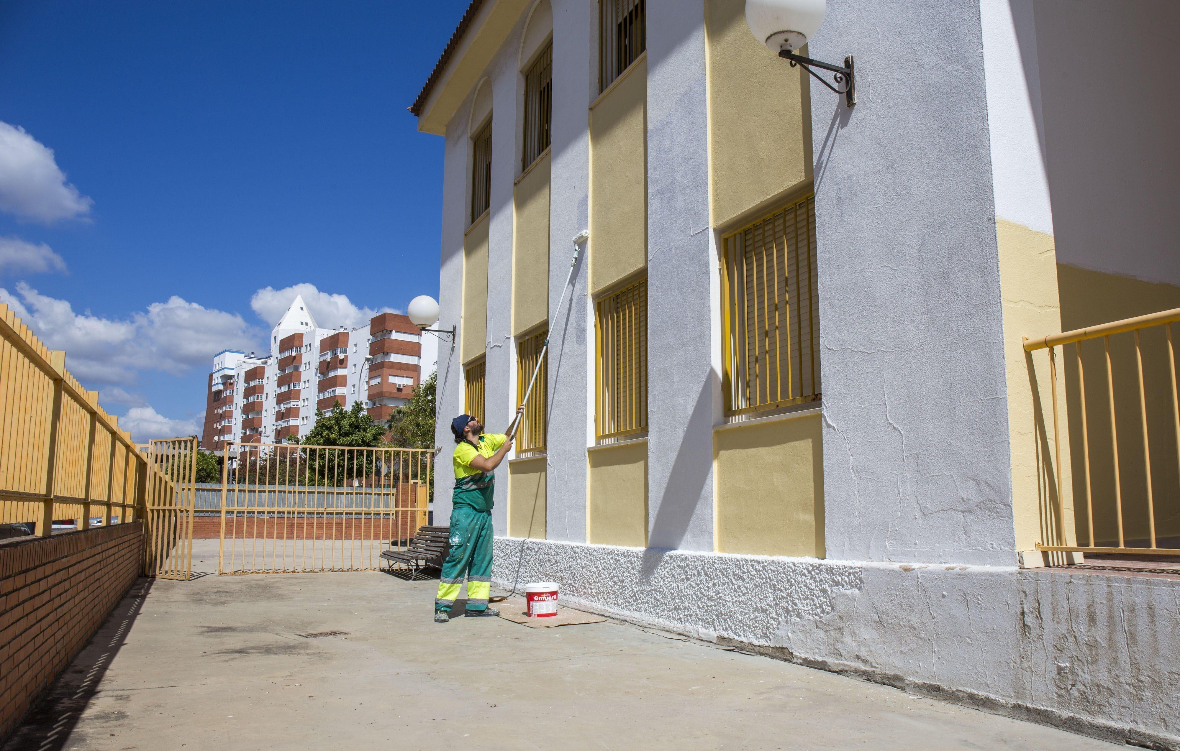 Trabajos de reparación en el José Oliva