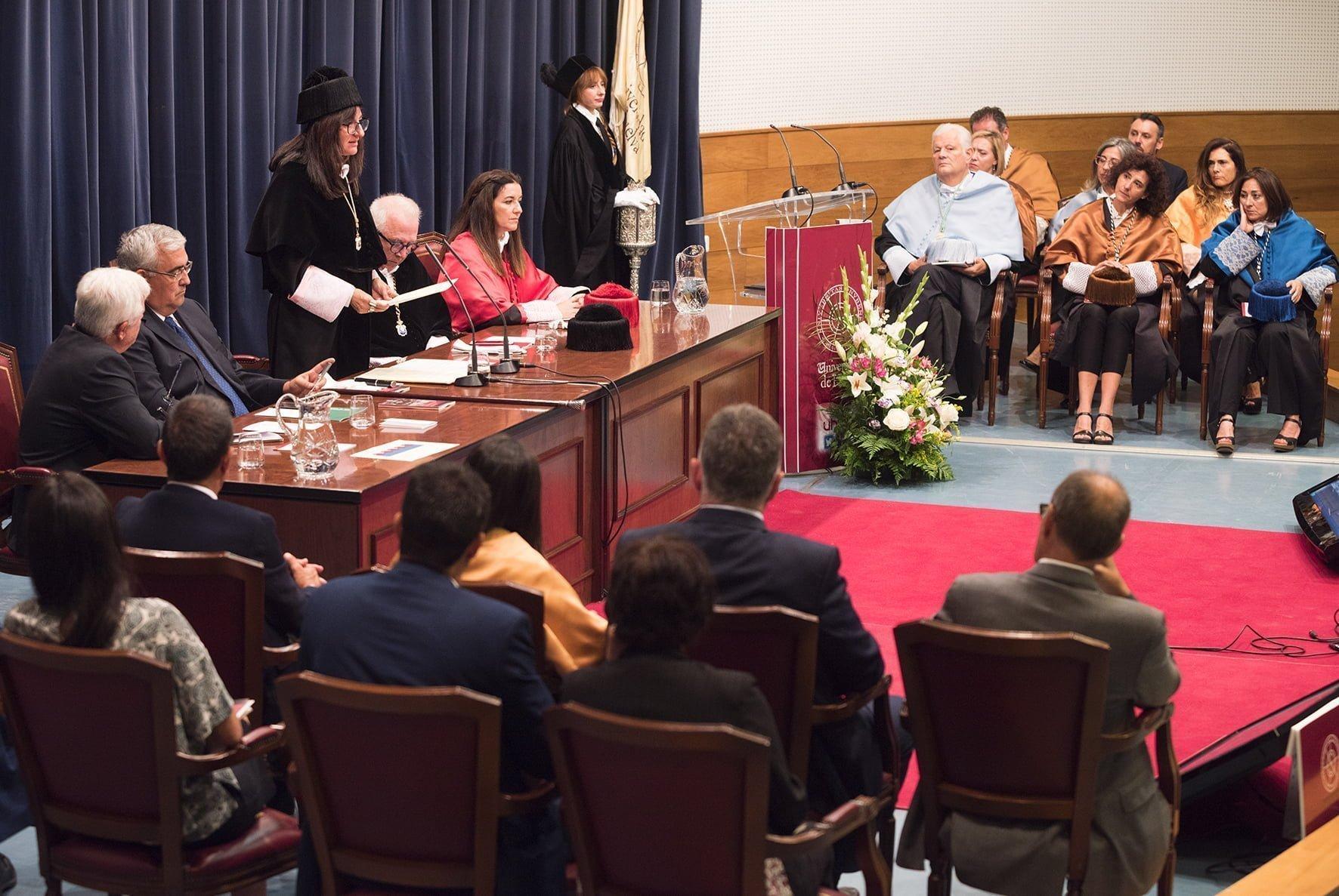 Un momento del acto de inauguración del nuevo curso, que acoge a más de 10.500 estudiantes