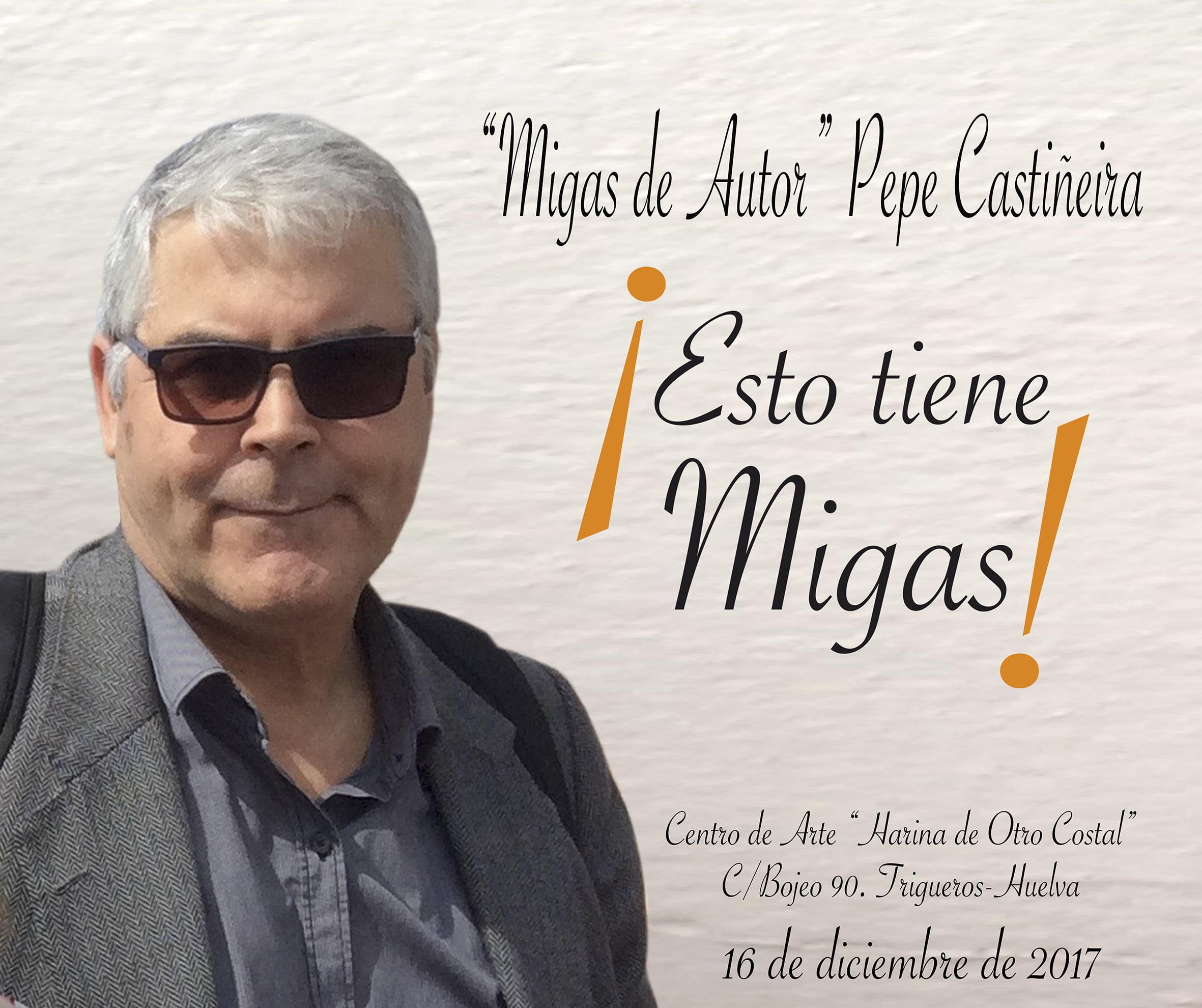 Cartel anunciador de las migas de autor del próximo sábado