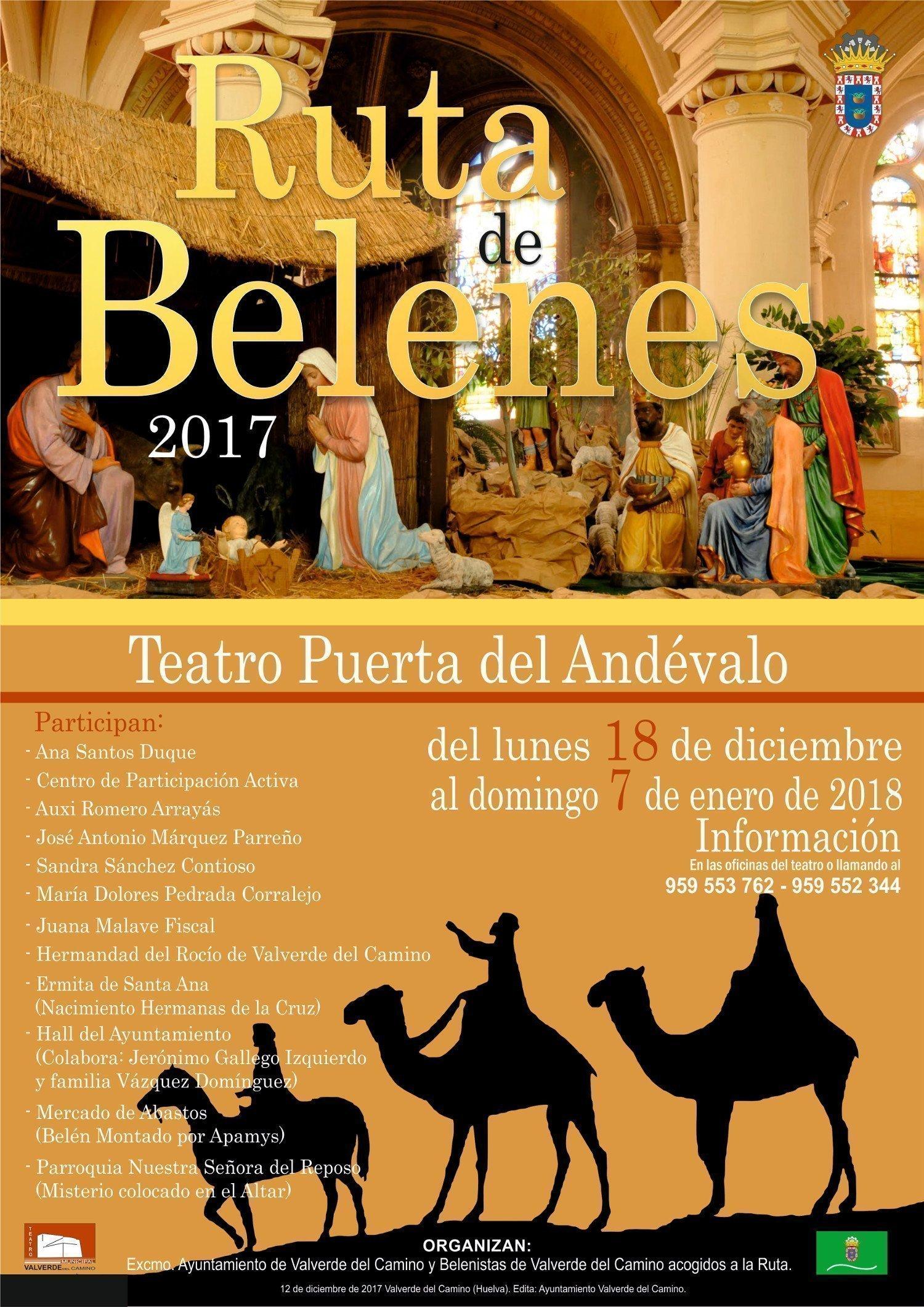 Cartel anunciador de la ruta de los belenes de Valverde del Camino