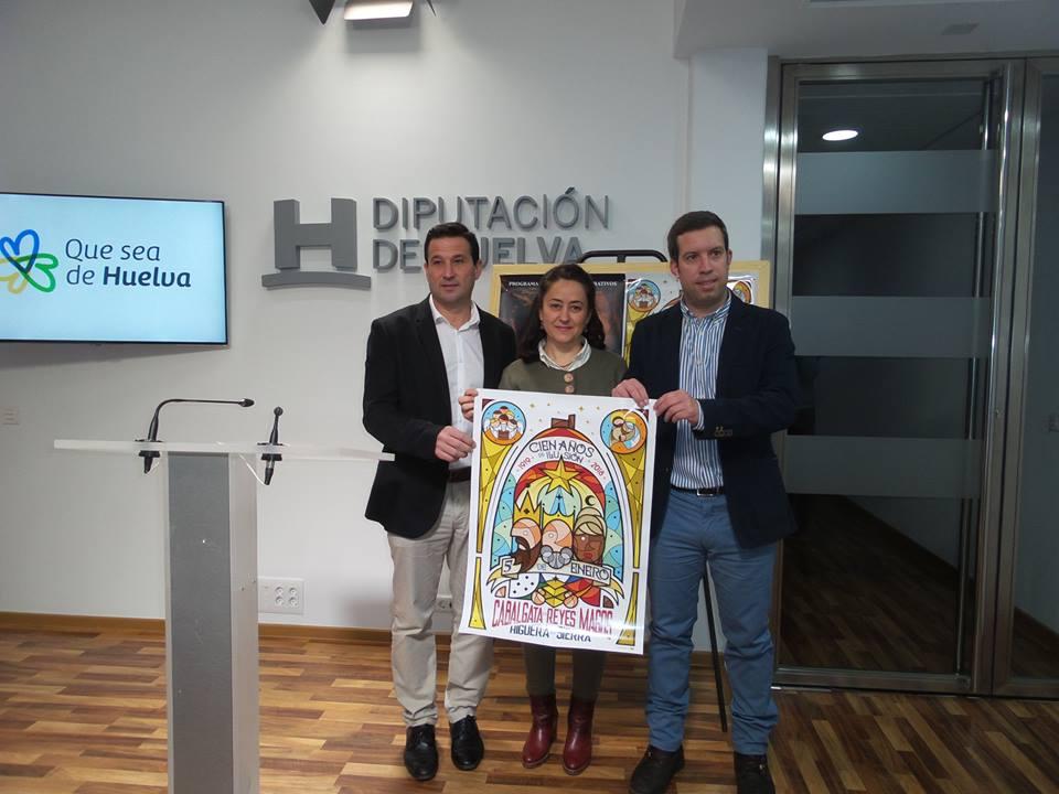 Presentación de la Cabalgata de Higuera de la Sierra en la Diputación
